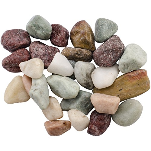 FloraCraft Vase Filler Rocks 5 Pounds Country Mix