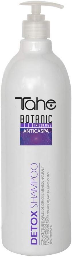Tahe Detox Champú Anti-Caspa de Gran Eficacia con Aceites Esenciales Cítrcos y Mentol Natura Sin Parabenes, 300 ml: Amazon.es: Belleza