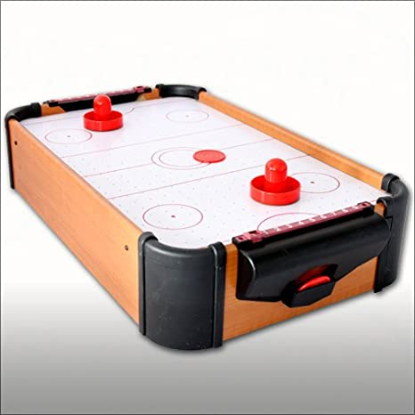 Air Hockey – Mesa 51 cm con porteros, contador y discos: Amazon.es ...