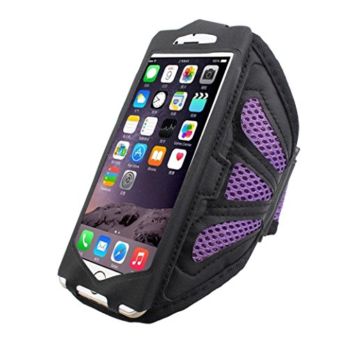 - Sports Running Armbanmd,Mesh Cell Phone Holder For Iphone 7 case 4.7 Inch (Purple)