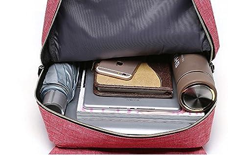 Sac /à dos Femme Et Homme 15 Pouces Sac /à dos Antivol Ordinateur Portable Ecole Avec Nylon Imperm/éable Noir
