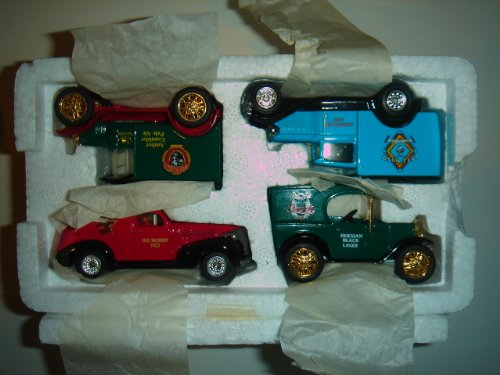 Ozark Collection - Matchbox Collectibles The Great American Micro Breweries Collection 4-Truck Set Dubuque Star Brewing Co '39 Chevy Sedan Delivery, The Holy Cow 1921 Ford T Model, Ozark Brewing Co Austin Minivan & Left Hand Brewing Co Ford Model A Panel Van