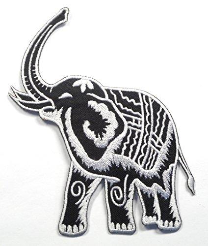 【ノーブランド品】アイロンワッペン ワッペン 動物・魚・生き物ワッペン 刺繍ワッペン ゾウ 象 アイロンで貼れるワッペンの商品画像