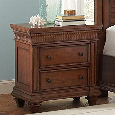 Tropical Nightstand in Warm Rum Finish