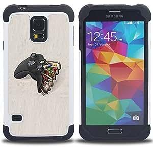 For Samsung Galaxy S5 I9600 G9009 G9008V - controller TV console play Dual Layer caso de Shell HUELGA Impacto pata de cabra con im??genes gr??ficas Steam - Funny Shop -
