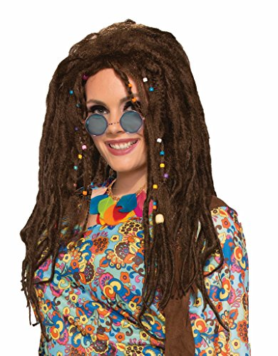 74506/62 Hippie Dreads Brown Dreadlock Wig Hippie Costume Wig (Brown Dreadlock Wig)