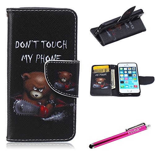 iPhone 6S Case, Firefish iPhone 6 Wallet Case [Bumper] [Kickstand] PU Leather with TPU Double Protection Flap Cover for Apple iPhone 6/6S 4.7