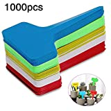 Aquarius CiCi 1000 PCS T-Type Labels, PP Waterproof T Tag Reusable Multicolored Plant Markers Nursery Garden Labels Plant Tags(3.92.7inch)