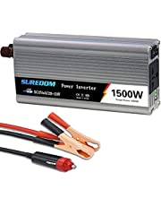 GZTYLQQ 1000W 1200W 1500W 2000W Power Inverter,Truck/Rv Inverter Dc 12V 24V to 110V 220V Ac Converter,with Ac Outlets and USB Charging Ports and Car Cigarette Lighter,2000W-24Vto110v