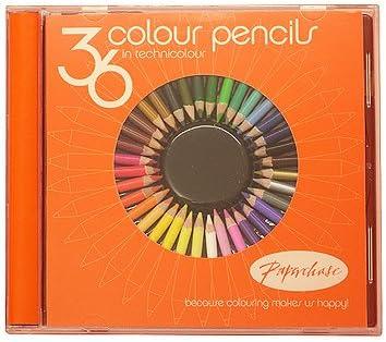 Mini lápices de colores en CD Case – Pack de 36: Amazon.es: Oficina y papelería