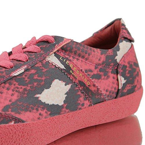 Liefde Kind Berlijn Ls0025 Gedrukt Nylon Dames Sneaker Donkerrood