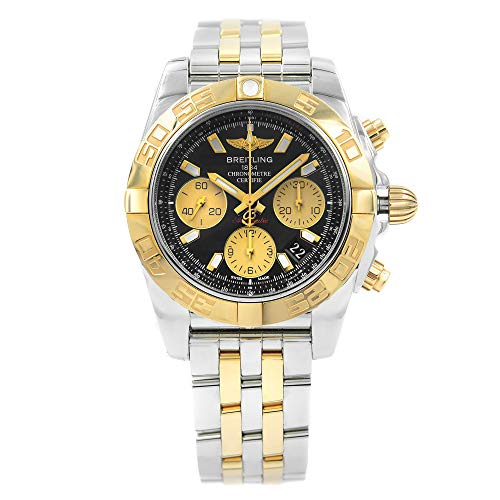 Breitling Men's Watch CB014012-BA53-378C Chronomat 41 Automatic Black Dial 18K Rose Gold and Steel ()