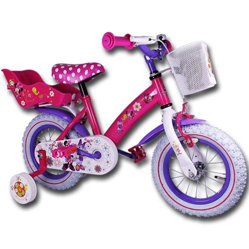 Kinderfahrräder - Fahrrad - Kinderrad - 12 Zoll mit Motivauswahl (Minnie Bow-Tique)