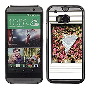Hot Style Cell Phone PC Hard Case Cover // M00169870 Building Home Window Curtain Flowers // HTC One M8