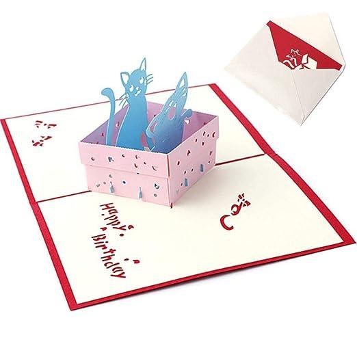 YAOJII Tarjeta de felicitación emergente 3D Regalo de ...