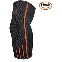 Fitness Elbow Brace Compression Support Sleeve for Tendonitis, Tennis Elbow, (Medium)