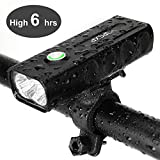 IPSXP Bicycle Headlight, USB Rechargeable 1000 Lumen LED Bike Front Light High Bright 6 Hours Mountain Road Cycling Safety Commuter Flashlight with 3 Modes, IPX5 Waterproof, 2 Free Reflective Bands