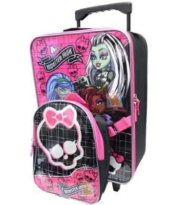 Monster High Kids Backpack and Rolling Luggage -