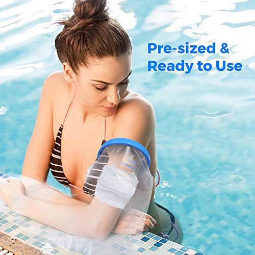 Adult Arm Cast Cover With Waterproof Seal Protection. Keep Casts & Bandages Totally Dry For Shower, Bathing Or Swimming. Heavy Duty Vynl Is Durable Yet Lightweight And Reusable.