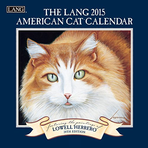 Lang January to December, 7 x 14 Inches, Perfect Timing American Cat 2015 Mini Wall Calendar Lowell Herrero (1079220)