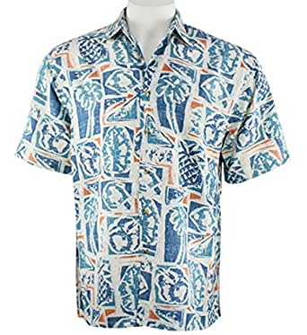 Bamboo cay cruise camp tropical style resort wear for Bamboo button down shirts