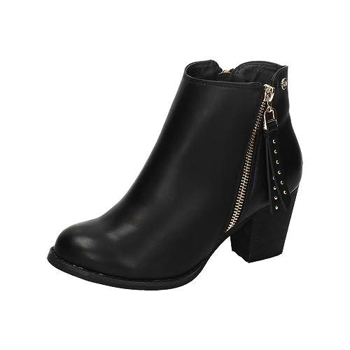 XTI 28408 Botin Moda Joven Mujer Botines Negro 41: Amazon.es: Zapatos y complementos