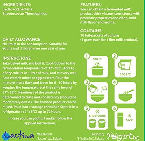 Ryazhenka/Baked Milk/Yogurt.bg Starter Culture By Lactina,probiotic, Organic for 10 Litres by yogurt.bg (Image #1)