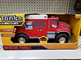 NEW! Tonka Lights & Siren Sounds Rescue Force Red Paramedic Ambulance Truck