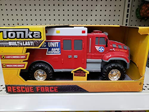NEW! Tonka Lights & Siren Sounds Rescue Force Red Paramedic Ambulance Truck (Tonka Remote Control Car)