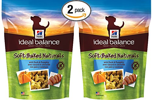 Bundle Pack of Two (2) Hill's Ideal Balance Soft-Baked Naturals with Duck and Pumpkin 8 oz Packages (16 oz total)