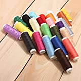 BoatShop 24 Color Cotton Sewing Thread Spools Sewing Machine Accessories