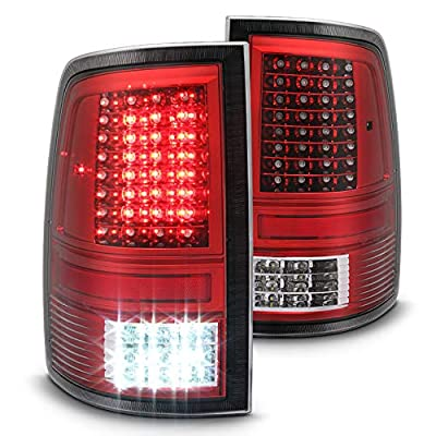 Xtune 2010-2017 Ram 1500/2500/3500, 2009 Ram 1500 Chromed Red LED Tail Lights w/LED Signal & Reverse 2011 2012 2013 Pair L+R