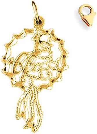 Made in USA JEWELS OBSESSION 18K Saying Pendant 18K White Gold Trust Me Saying Pendant
