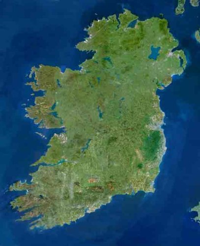 Planet Observer Ireland From Space Poster