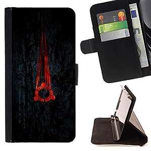 - cool black red portal Linux - - Prima caja de la PU billetera de cuero con ranuras para tarjetas, efectivo desmontable correa para l Funny HouseFOR Sony Xperia Z1 Compact D5503