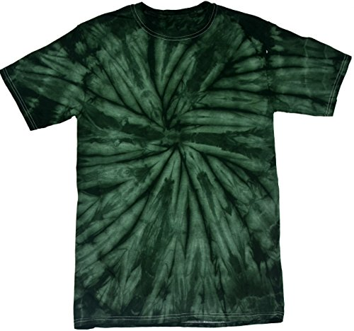 Colortone Tie Dye T-Shirt LG Spider Green