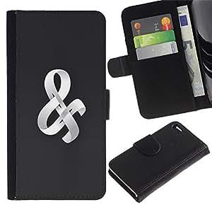 WonderWall Fondo De Pantalla Imagen Diseño Cuero Voltear Ranura Tarjeta Funda Carcasa Cover Skin Case Tapa Para Apple Iphone 4 / 4S - Cinta 3D
