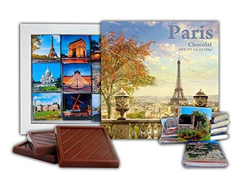 DA CHOCOLATE Candy Souvenir PARIS Chocolate Gift Set 5x5in 1 box (Eiffel Tower Prime)