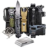 TRSCIND Father's Day Birthday Gift for Him Men Dad Boyfriend, 11-in-1 Survival Gear Kits with...