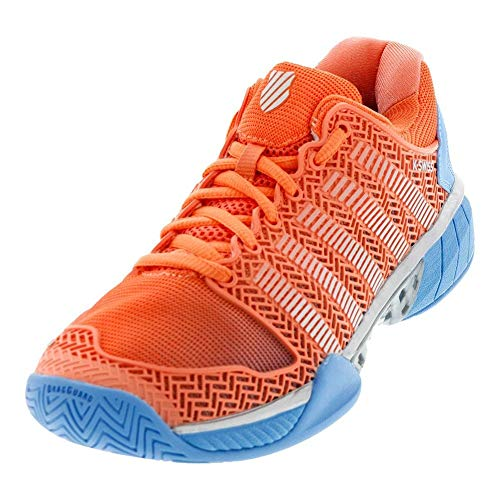 K-Swiss Women's Hypercourt Express Tennis Shoe (Fusion Coral/Bonnie Blue, 5 M US)