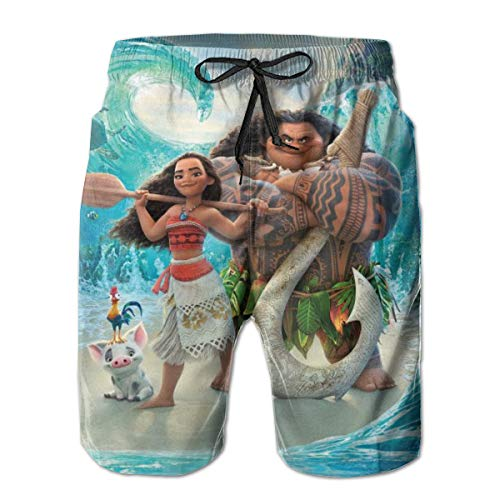 Mens Swim Trunks Quick Dry Board Shorts Summer Graphic Casual Swimming Beach Shorts Mesh Lining Bathing Suits with Pockets - Maui Moana HD Wallpaper