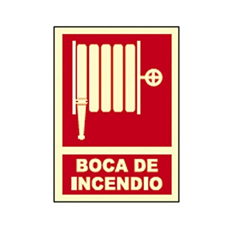 CARTEL SEÑAL BOCA DE INCENDIO FOTOLUMINISCENTE: Amazon.es ...
