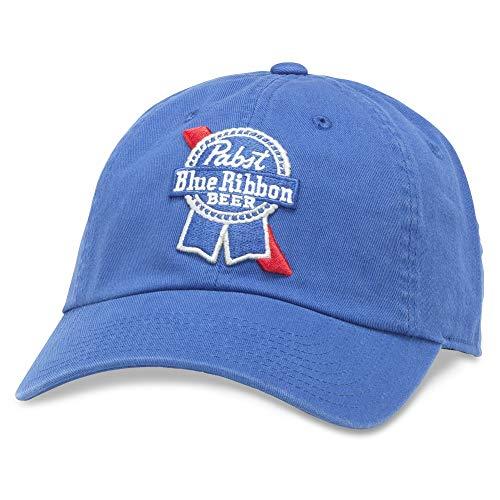 (American Needle Ballpark Pabst Blue Ribbon Blue Beer Baseball Dad Hat (PBC-1901B-ROY))