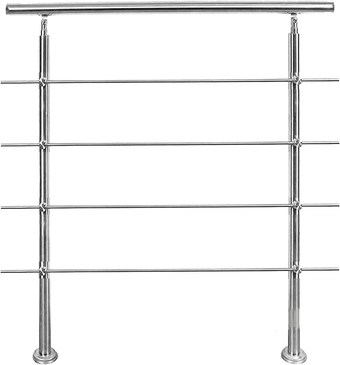 LHL-DD Pasos de barandilla con 4 Barras transversales Barandillas Exteriores de ángulo Ajustable para escalones Uso de Acero Inoxidable 304 para escaleras, terraza, balcón