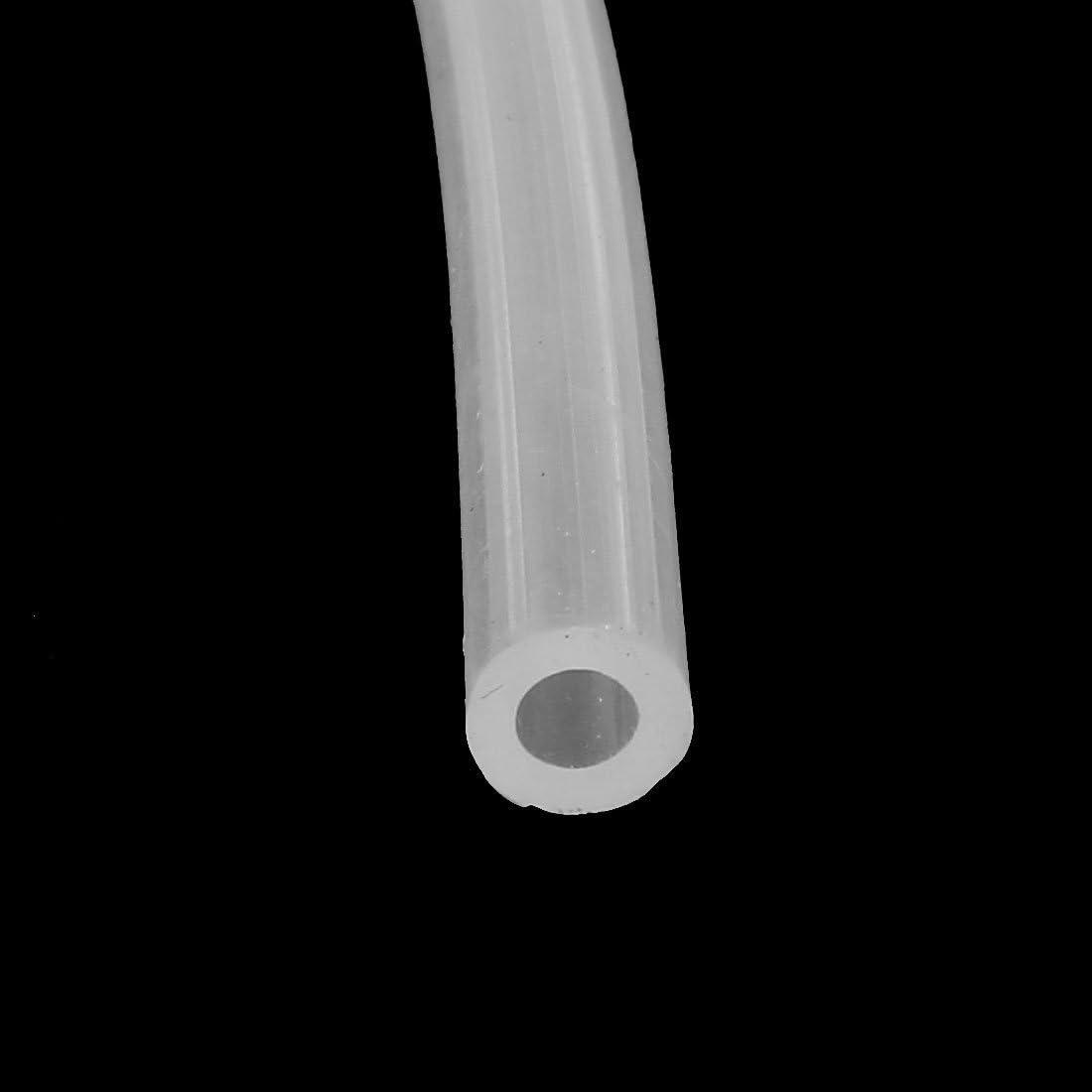 metal DealMux a15121600ux0991 Tubo de silicona de grado alimenticio de 4 mm x 7 mm Tubo de manguera de bomba de aire de agua de cerveza 0.16 2 m