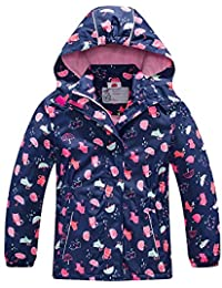 3a0bdabff5a Girls Rain Jacket – Waterproof Jacket for Girls with Hood