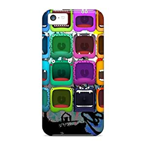 For Oilpaintingcase88 Iphone Protective Cases, High Quality For Iphone 5c Monster Skin Cases Covers