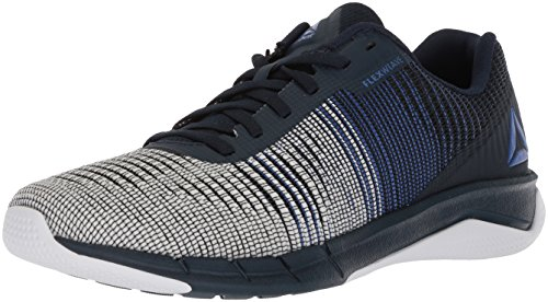 Reebok Men's Fast Flexweave Running Shoe, Acid Blue/Collegiate Navy/White, 10.5 M US