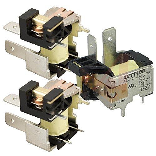 Zettler AZ2120-1A-15DF T-90 Type 15-Volt 30-Amp SPST Circuit Board Relay (Pack of 3)
