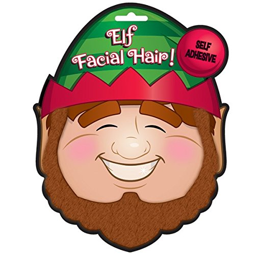 [Elf Facial Hair Set] (Adult Witch Mask With Hat And Hair)